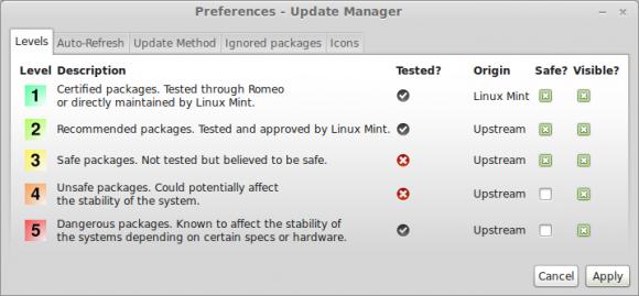 Update-Manager in Linux Mint (Quelle: linuxmint.com)
