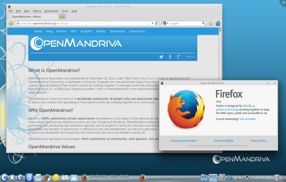 OpenMandriva Lx 2013.0: Firefox (Quelle: openmandriva.org)