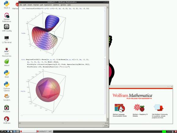 3D-Graphen mit Mathematica (Quelle: raspberrypi.org)