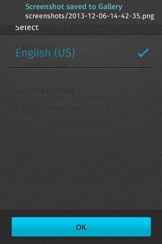Möglich ist Englisch oder Englisch