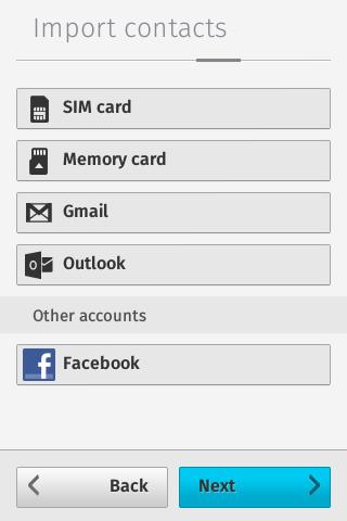 Firefox OS 1.3: Kontakte importieren