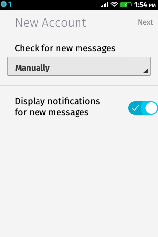 Firefox OS Mail: Manuell oder automatisch?
