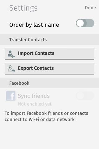 Firefox OS: Kontakte importieren