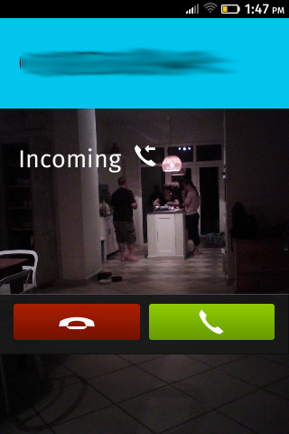 Firefox OS 1.0: Eingehender Anruf