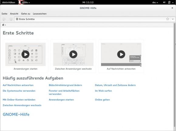 Fedora 20: GNOME Hilfe