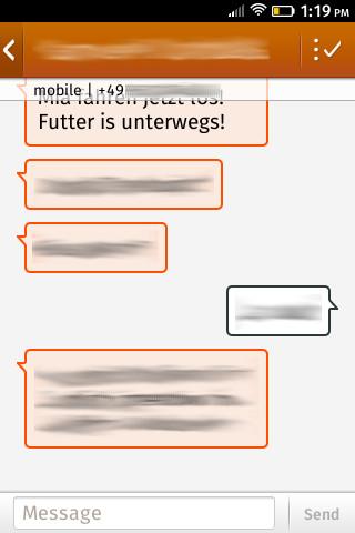 Firefox OS 1.0: SMS-Unterhaltung