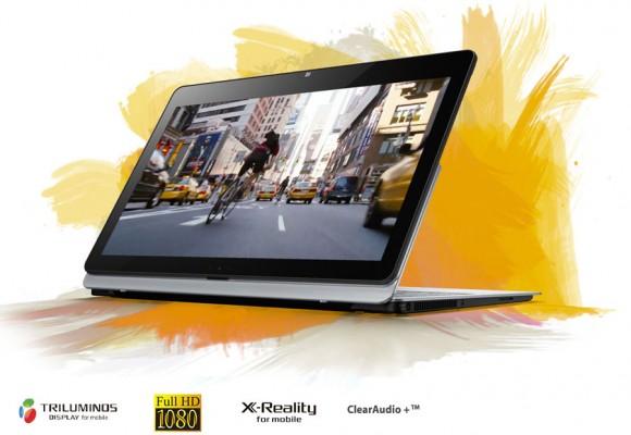 Sony VAIO® Fit multi-flip™ mit umgeklapptem Bildschirm (Quelle: sony.de)