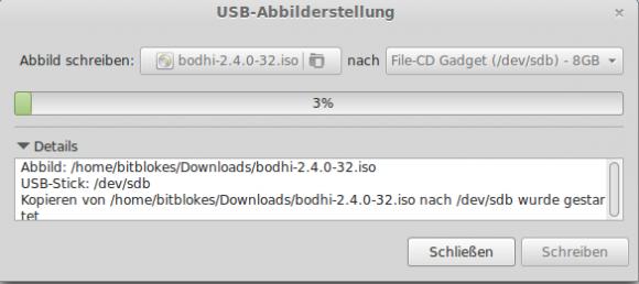 Linux Mint: USB-Abbilderstellung