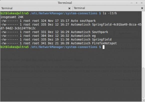 WLAN-Passwörter nur von root lesbar