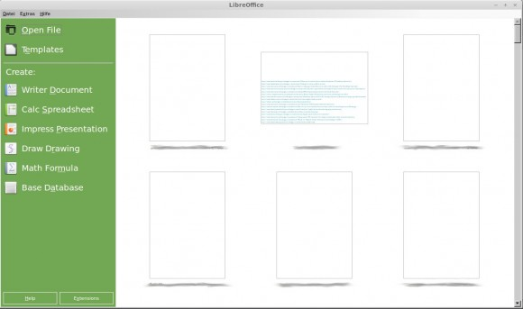 LibreOffice 4.2: Startbildschirm