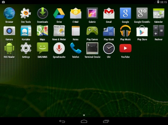 Android-x86: Apps