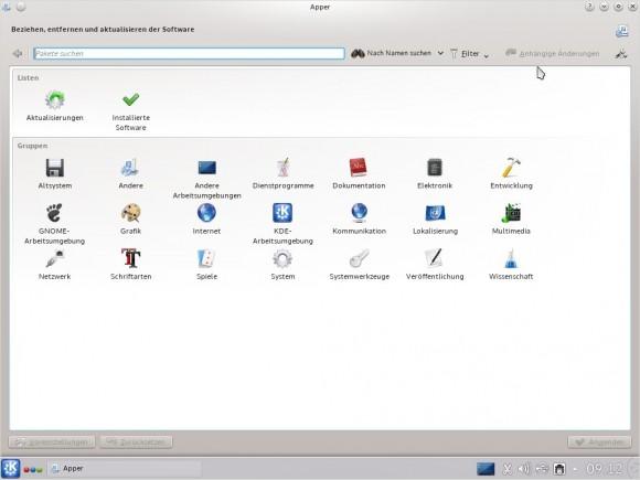 Tanglu 1.0 KDE: Apper