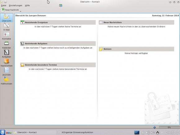 Tanglu 1.0 KDE: Kontact