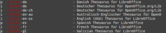 mythes-de: Thesaurus für LibreOffice