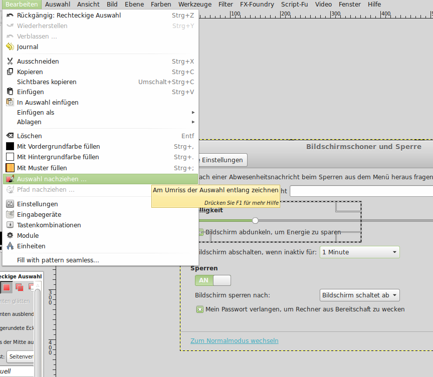 GIMP-Tipp: Einen Rahmen um einen Bereich in einem Bild ziehen ...