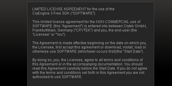 CryEngine Steam EULA