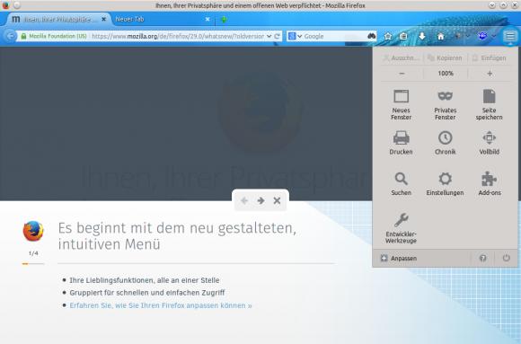 Firefox 29: Rundgang