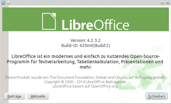 LibreOffice: 4.2.x
