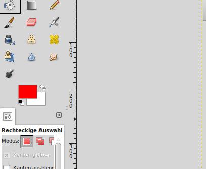 GIMP: Vordergrundfarbe festlegen
