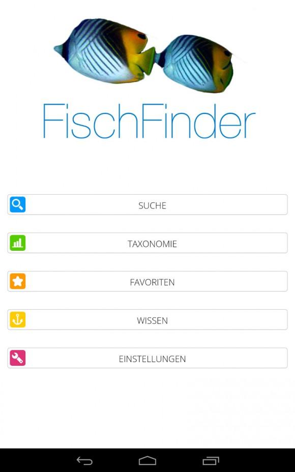 FischFinder: Startseite