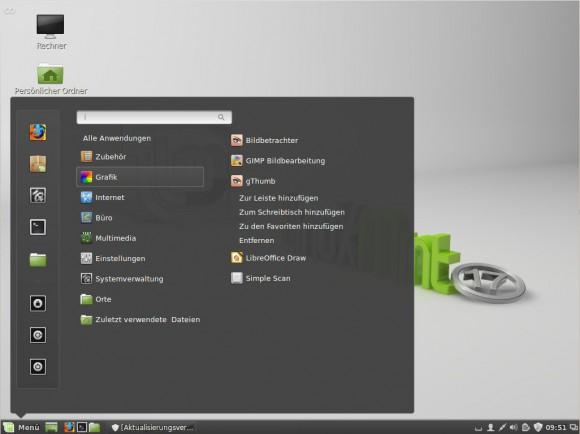 Linux Mint 17: Menü