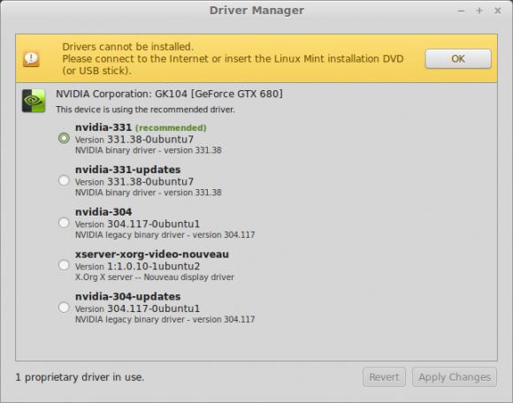 Linux Mint 17: Treiber (Quelle: linuxmint.com)