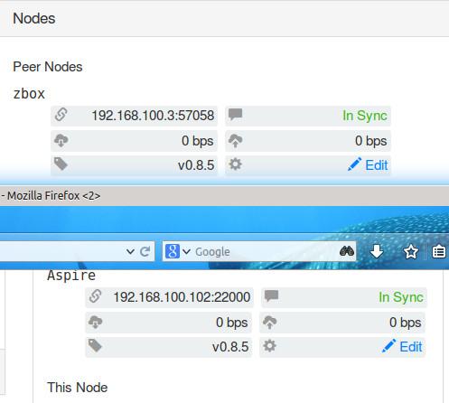 Syncthing: interne IP-Adressen werden nun richtig erkannt und dargestellt