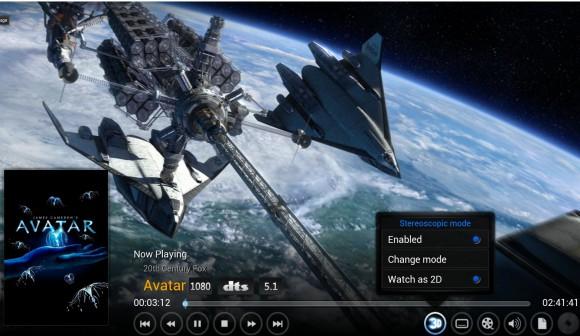 XBMC 13 mit 3D-Unterstützung (Quelle: xbmc.org)