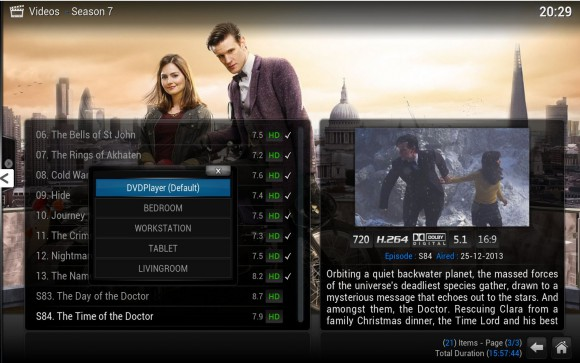XBMC 13: Play using ... (Quelle: xbmc.org)
