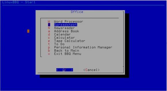 LinuxBBQ: Menü / Office