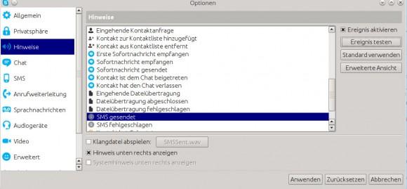 Skype für Linux: Hinweise konfigurieren