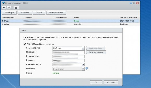 No-IP und Synology