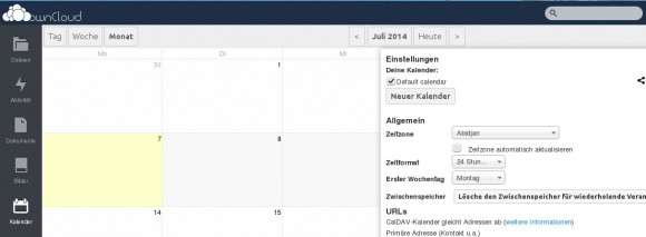 ownCloud 6: Kalender