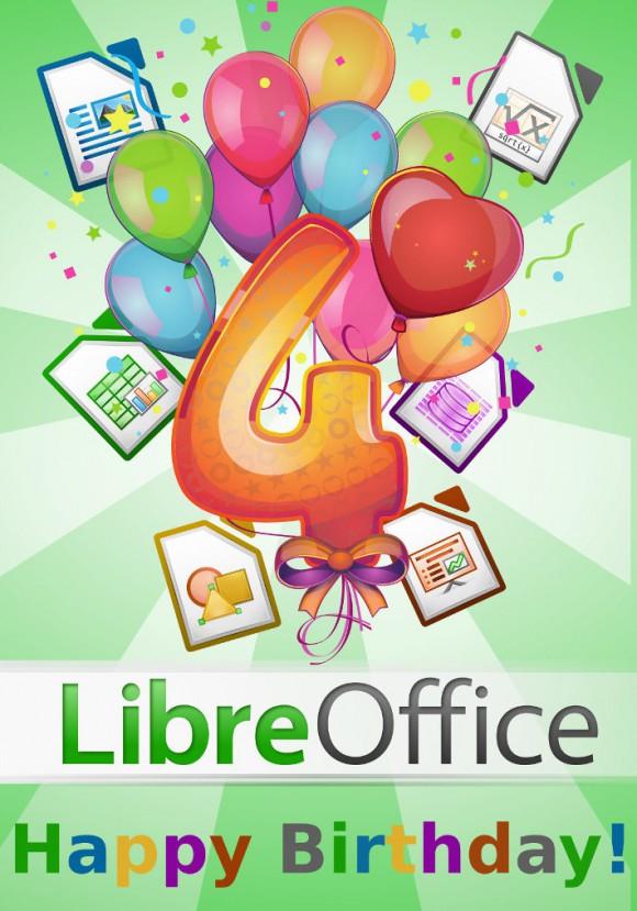Letztes Jahr vier und mit LibreOffice 5.0 den fünften Geburtstag feiern.