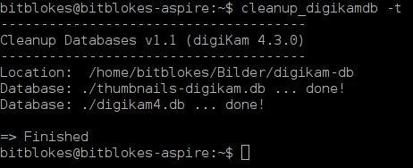 digiKam mit installiertem sqlite3 sieht schon besser aus
