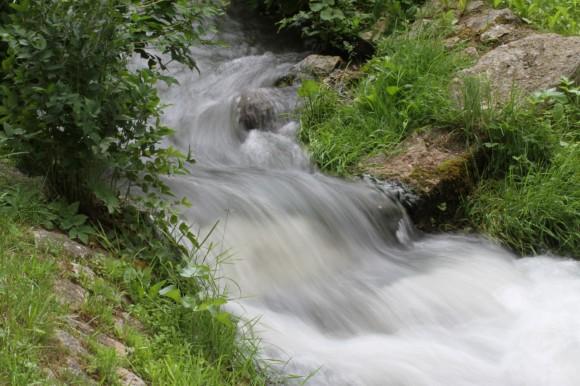 Fließendes Wasser: Es hilft natürlich, wenn es windstill ist.