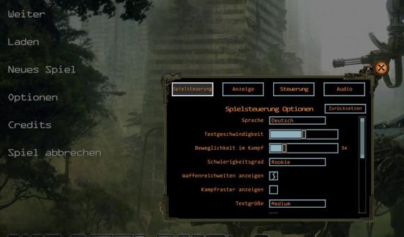 Wasteland 2 lässt sich auf Deutsch umstellen