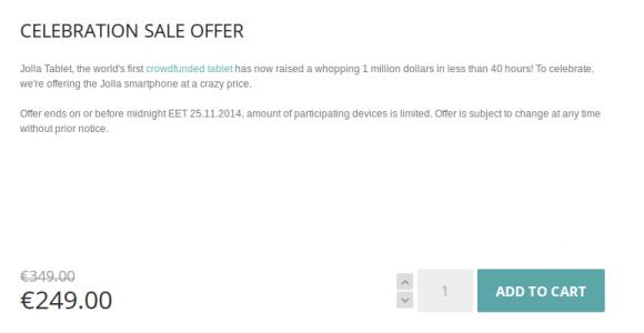 Jolla Smartphone für 249 Euro