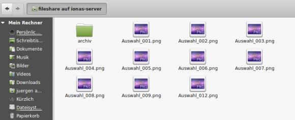 Dort kommen die Dateien für die öffentlichen Links hinein