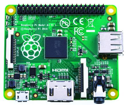 Raspberry Pi A+ von oben (Quelle: au.rs-online.com)
