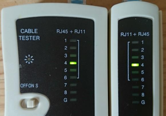 Der Kabeltester sagte, dass Ethernet-Kabel ist in Ordnung ...