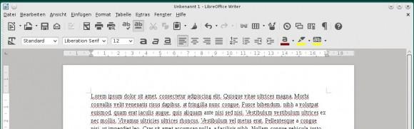 Die monochrome Oberfläche sifr ist auch in LibreOffice 4.2.8 verfügbar