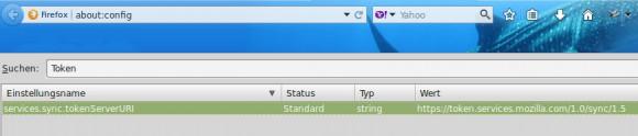 Mozilla Firefox: URL für die Synchronisation