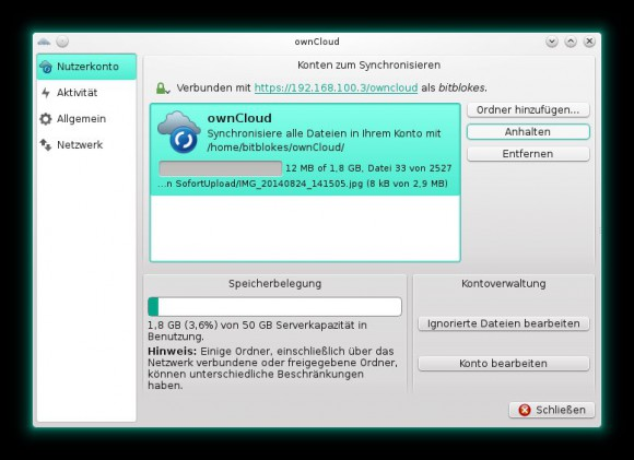 ownCloud-Client unter openSUSE 13.2