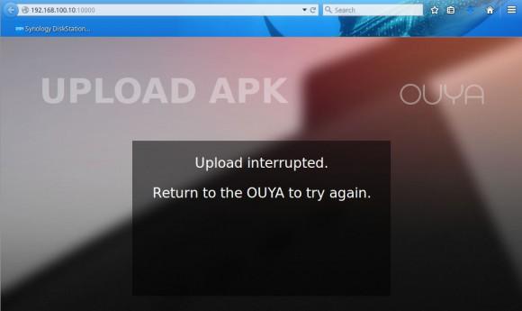 Upload angeblich unterbrochen - funktioniert aber trotzdem