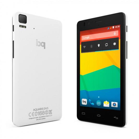BQ Aquaris E4.5 Ubuntu Edition wird das erste Ubuntu-Smartphone - hier noch mit Android (Quelle: bq.com)