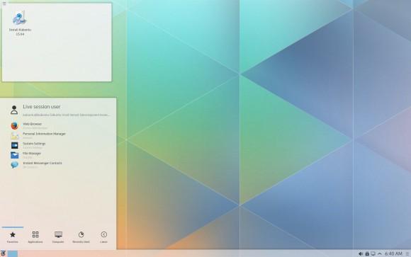 Kubuntu 15.04: Desktop und Menü