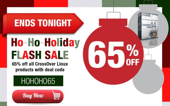 CrossOver Linux 65 Prozent günstiger