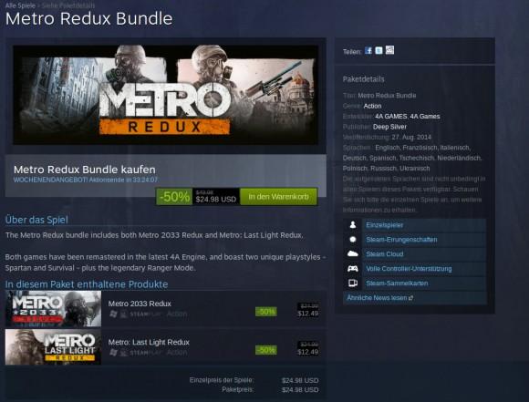 Metro Redux: Derzeit im Angebot