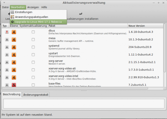 Upgrade auf Linux Mint 17.1
